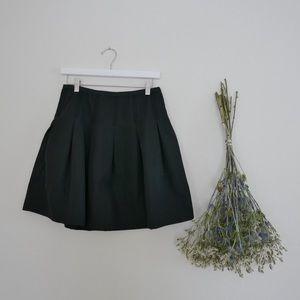 Polished Cotton Short Skirt